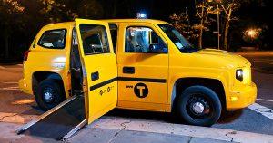 taxi accessible rampe coté